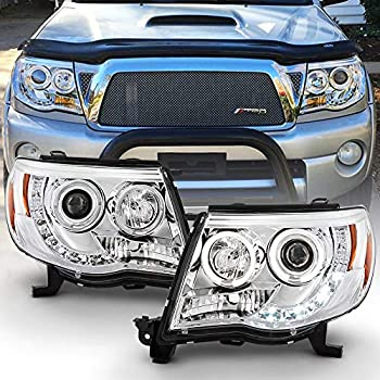 For 2005-2011 Toyota Tacoma LED DRL Halo Projector Headlights Headlamps 05-11