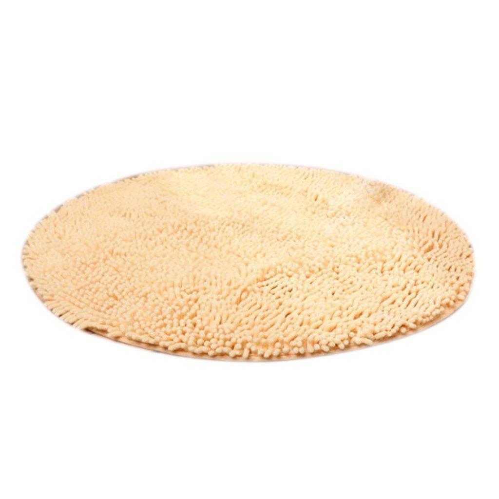 Dovewill Dia. 80cm Round Non-slip Shag Area Rug Carpet Kids Play Crawling Mat Rug Carpet - White, Dia. 60cm