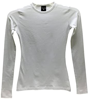 f1bec2b2f1f Image Unavailable. Image not available for. Color  Modest Tee Womens  Layering Shell Long Sleeves Large White