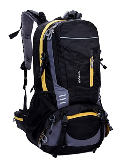 lethigho 40L impermeable montañismo senderismo mochila deportes al aire libre escalada mochila con Cubierta de Lluvia