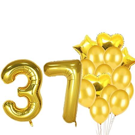Globos de látex para fiesta de cumpleaños número 37 ...