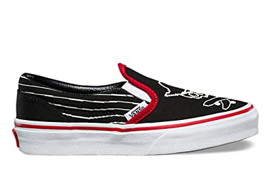 814225de42876b Vans Classic Slip-On (Pixel Pirate) Black Racing Red True White