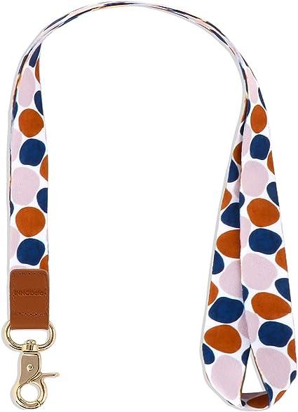 Llaves Cuello Cuelga Correa para Cuello Cuerda con Colgar de Piel Genuina para el Key, Teléfono Móvil, USB, Tarjetas de Identificación (Bloque de color): Amazon.es: Oficina y papelería