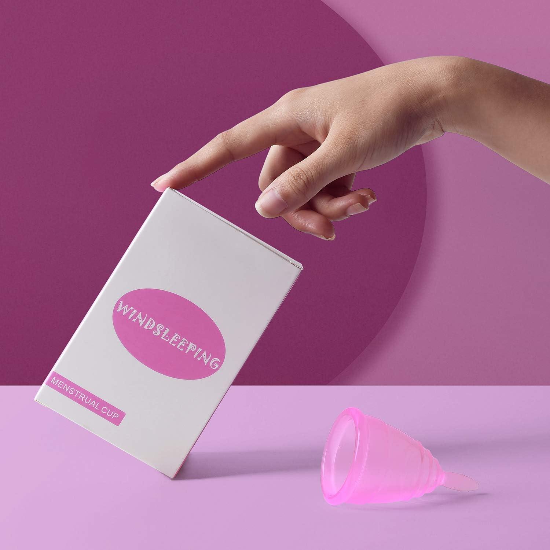 Vaso menstrual para dormir, taza de higiene femenina, mejor que los tampones y servilletas sanitarias para preparto, flujo menstrual normal (grande, ...