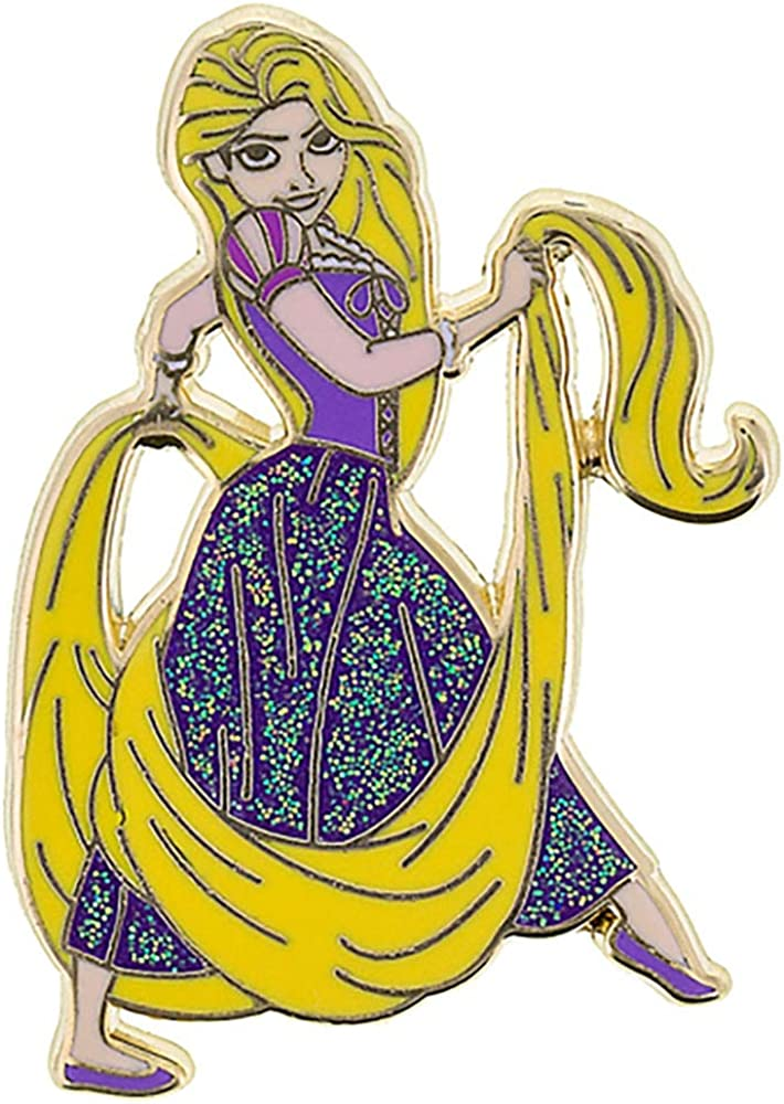 Amazon Com Disney Parks Rapunzel Glitter Trading Pin Tangled Disney Princess Pin Collection Clothing
