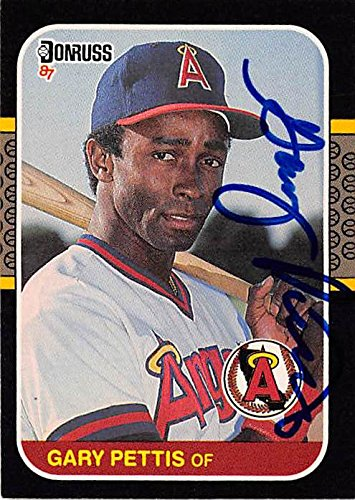 Gary Pettis Autographed Baseball Card California Angels 1987