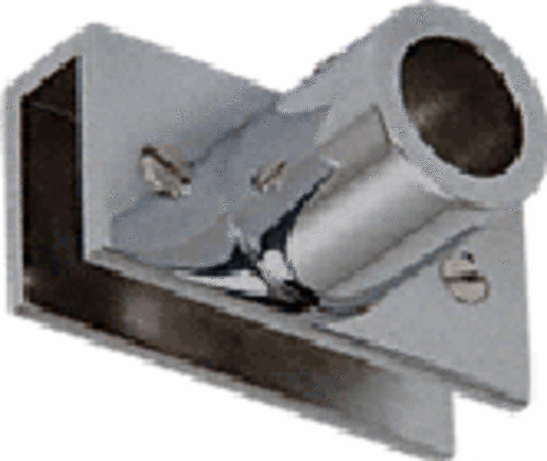 C.R. LAURENCE S13BN CRL Brushed Nickel Adjustable Slim Line Glass Mount Fitting
