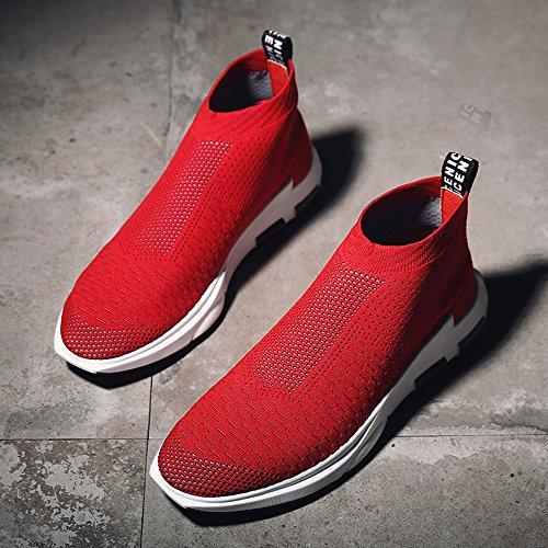 SITAILE Unisex Herren Damen Helle Sportschuhe Sport Outdoor Schuhe Laufschuhe Sneaker C-Rot