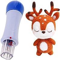 Fityle Kit De Inicio De Fieltros Apliques Material De Animal Ciervo Navidad Juguete Pasador Perno