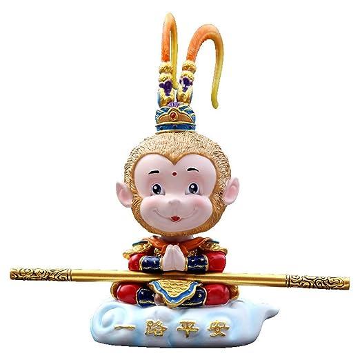 Mini Mono Rey Estatua Animal Resina Escultura Arte Home Mesa ...