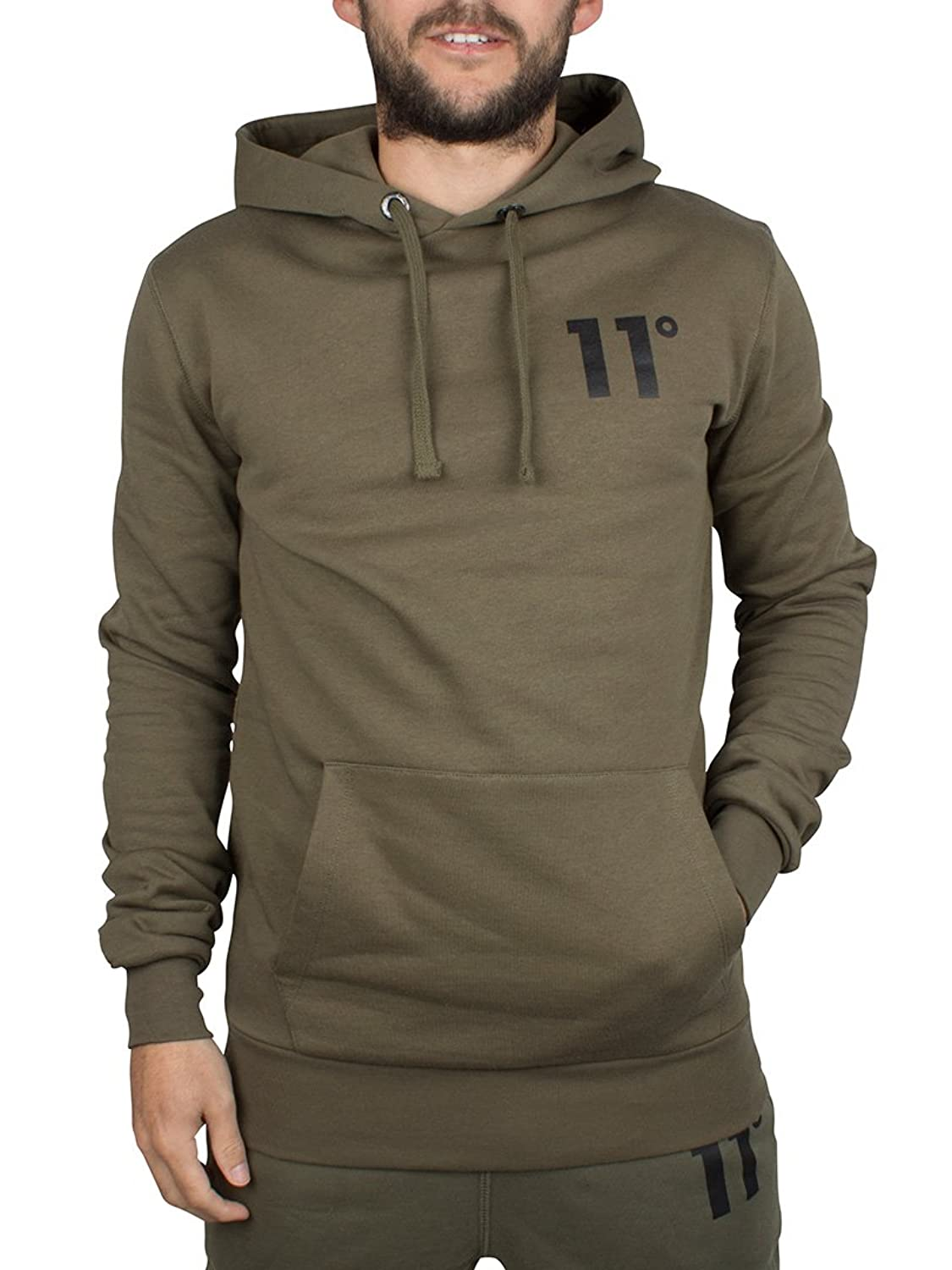 11 Degrees Men's Core Logo Pull Over Hoodie, Green 60%OFF