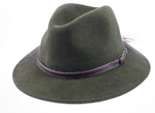 a2458520ae85a AW-Collection Men s Fedora Hat Green Green  Amazon.co.uk  Clothing