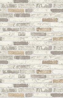 NEW LUXURY ERISMANN BRIX BRICK WALL EFFECT EMBOSSED TEXTURED VINYL WALLPAPER