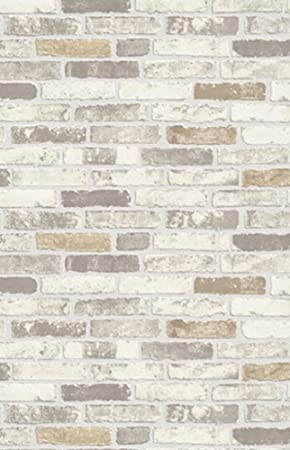 papel de pared de vinilo erismann efecto ladrillo en relieve con textura