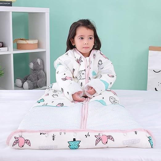 DAZISEN Saco De Dormir Suave para Bebés Y Niños - Suave Cómodo Lindo Bastante Alargar Saco Usable Saco De Dormir Manga De Dormir Extraíble: Amazon.es: Ropa y accesorios