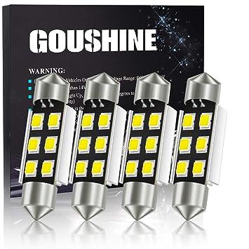 GOUSHINE 4 x C5W 39mm LED Canbus 6SMD 2835 Luz Interior de Coche ...