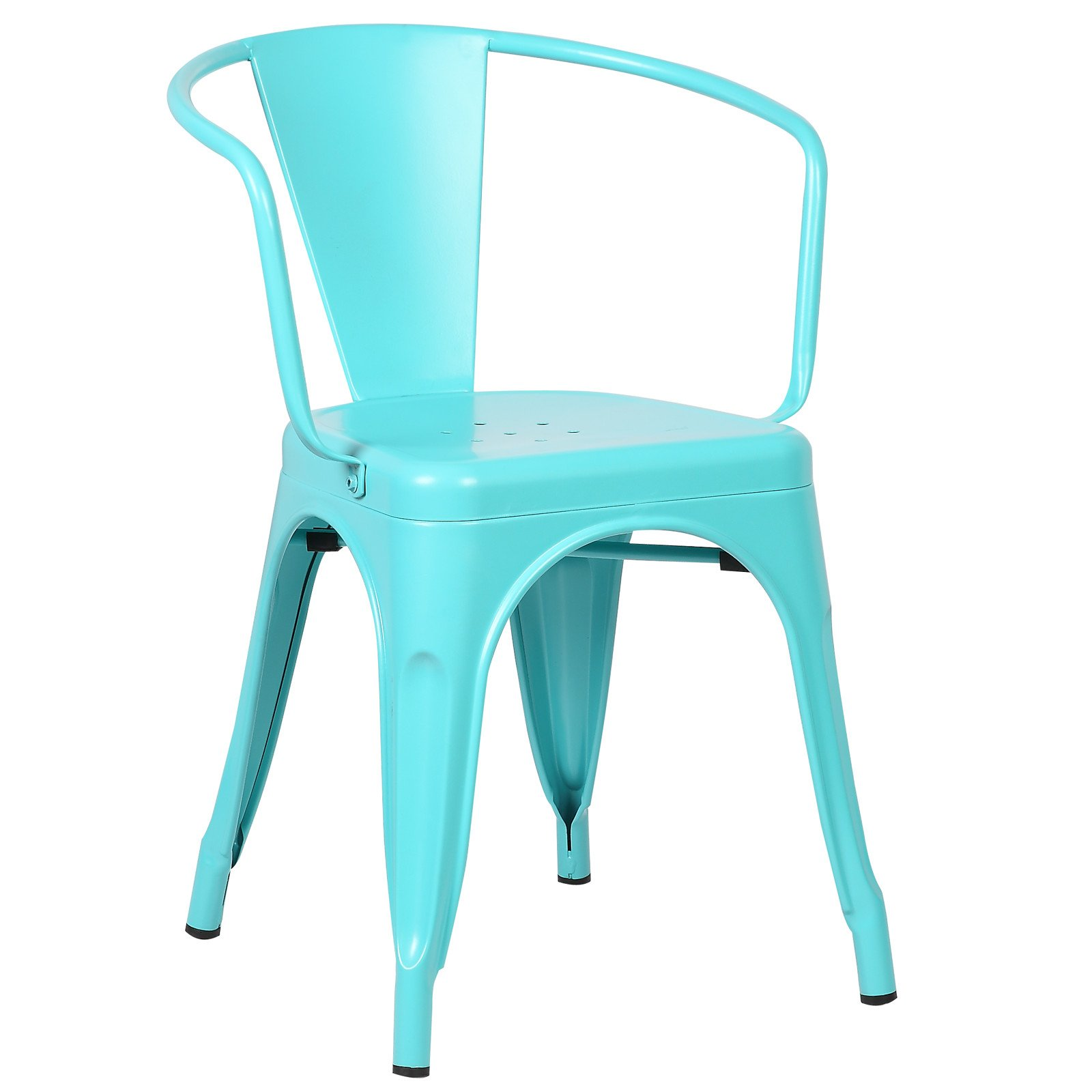 Poly and Bark Trattoria Arm Chair in Aqua