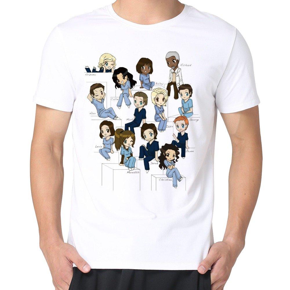 Amazon.com: MARY Men\'s Cute Cartoon Funny Greys Anatomy T-shirts ...