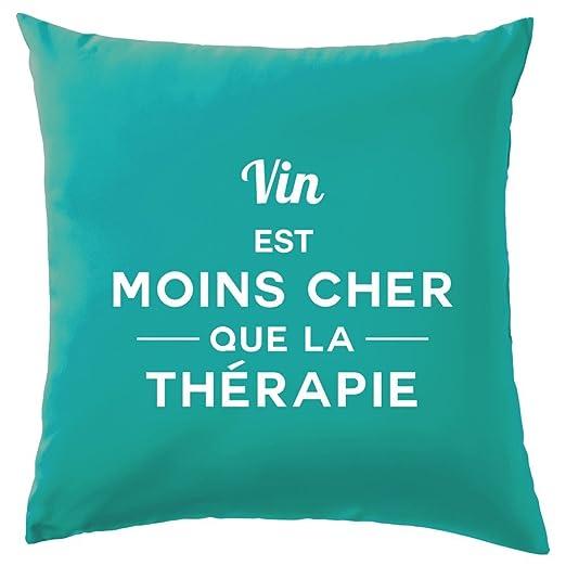 Vino es más barato que la terapia - Cojín - 10 Color, 100 ...