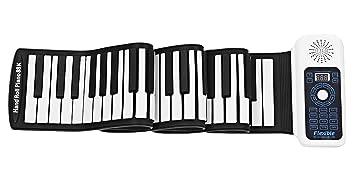 Icegrey Portatil USB Piano Teclado Electrónico Flexible Niños Practica Instrumentos Musicales Blanco 88 teclas