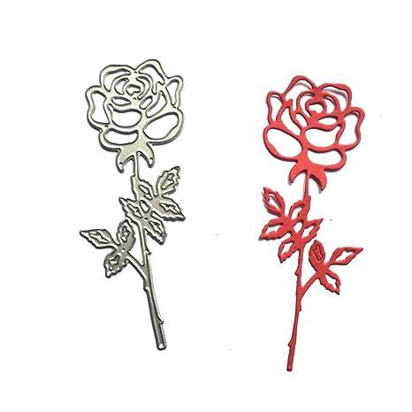 topker Metal cortador de corte de flores muere troqueles para hacer rosa delicado tarjetas álbum de