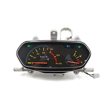 sourcing map 0-120Km/h Reloj Digital Velocímetro Odómetro para GY6 125Cc Moto Scooter: Amazon.es: Deportes y aire libre