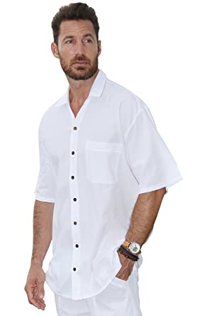 03d27f4a18c Cotton Button Down Short Sleeve Men s Shirt White at Amazon Men s Clothing  store