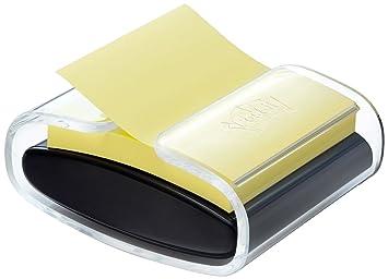 Post-It PRO-B-1SSCY-R330 - Dispensador de notas, con 1 paquete de notas, color negro/ transparente: Amazon.es: Oficina y papelería
