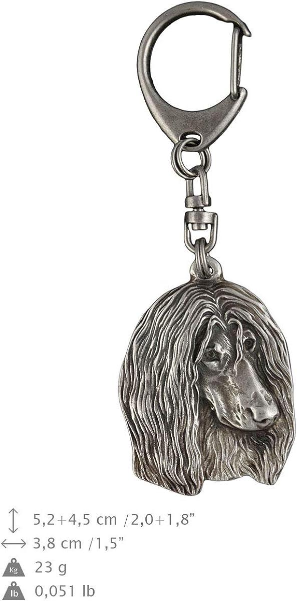 in Casket Dog Keyring ArtDog Afghan Hound Limited Edition Key Holder