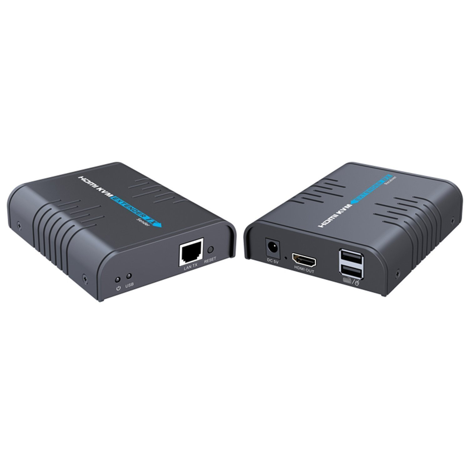 E-SDS 1080P HDMI KVM Extender over Single Cat5/5E/6/7 Ethernet Cable,HDMI over TCP/IP up to 365Ft(CAT6) Support USB Keyboard & Mouse