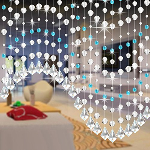 10 Pack Clear Crystal Glass Beaded Curtain, Clearance Sale! ❤ Beautiful Elegance Butterfly Voile Door Window Curtain Room Divider, Home Decor Summer Living Room Bedroom (Colorful C) ()