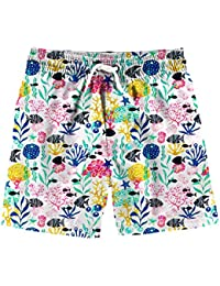 d6598affa32 Boys 3D Printed Funny Swim Trunks Quick Dry Beachwear Sports Running Swim  Board Shorts