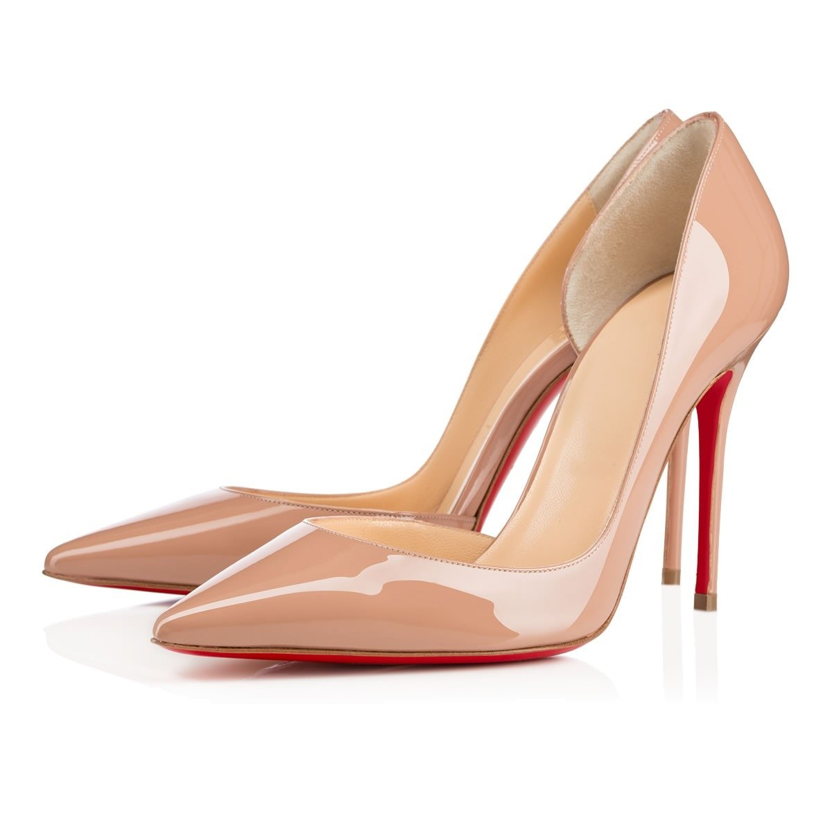 Chris-T Women Fashion D'Orsay Peep Toe with High Heel Stiletto Dress Party Pumps Size 5-15 US B07F7X1QMP 10 B(M) US Nude R/Red S0le(bottom)