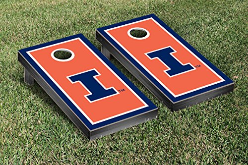 Illinois Fighting Illini Regulation Cornhole Game Set Border Version by Victory Tailgate
