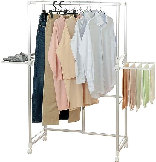 Amazon.co.jp : アイリスオーヤマ 洗濯物干し 室内物干し ベランダ ...