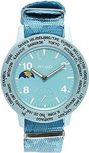 Atop World Time-AWA Canvas Series Unisex Casual Watch Canvas Strap - AWA-14-C0506