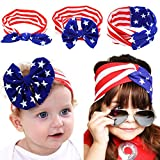 Lady Up Baby Headbands American Flag Head Wrap USA Flag Turban Knotted Hair Band, 4th July Costume Bandana For Sale