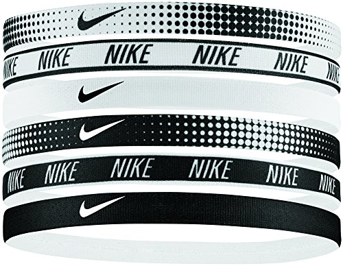 Band Assorted (NIKE Women's Printed Headbands Assorted 6PK White/Black Size One Size)