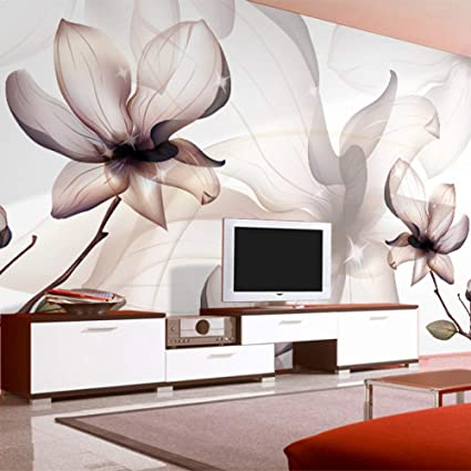 Amazhen Custom 3D Wallpaper Magnolia Flower Large Wall Painting Bedroom  Living Room Wall Murals Wallpaper,