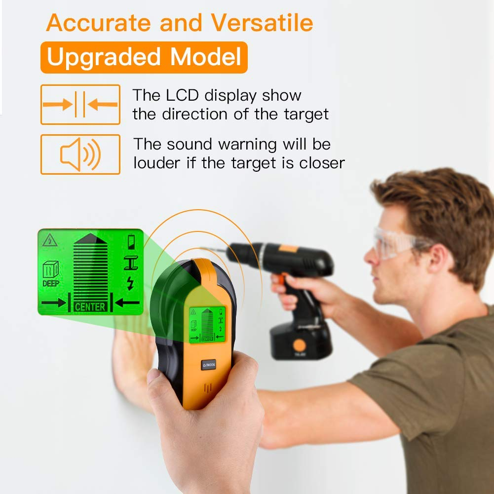 SP-Cow D/étecteur Num/érique de Mat/ériaux D/étecter M/étaux//Fils /Électrique//Stud D/étecteur de Construction 4 en 1 Scanner /Électronique de goujons avec /Écran LCD R/étro/éclair/é