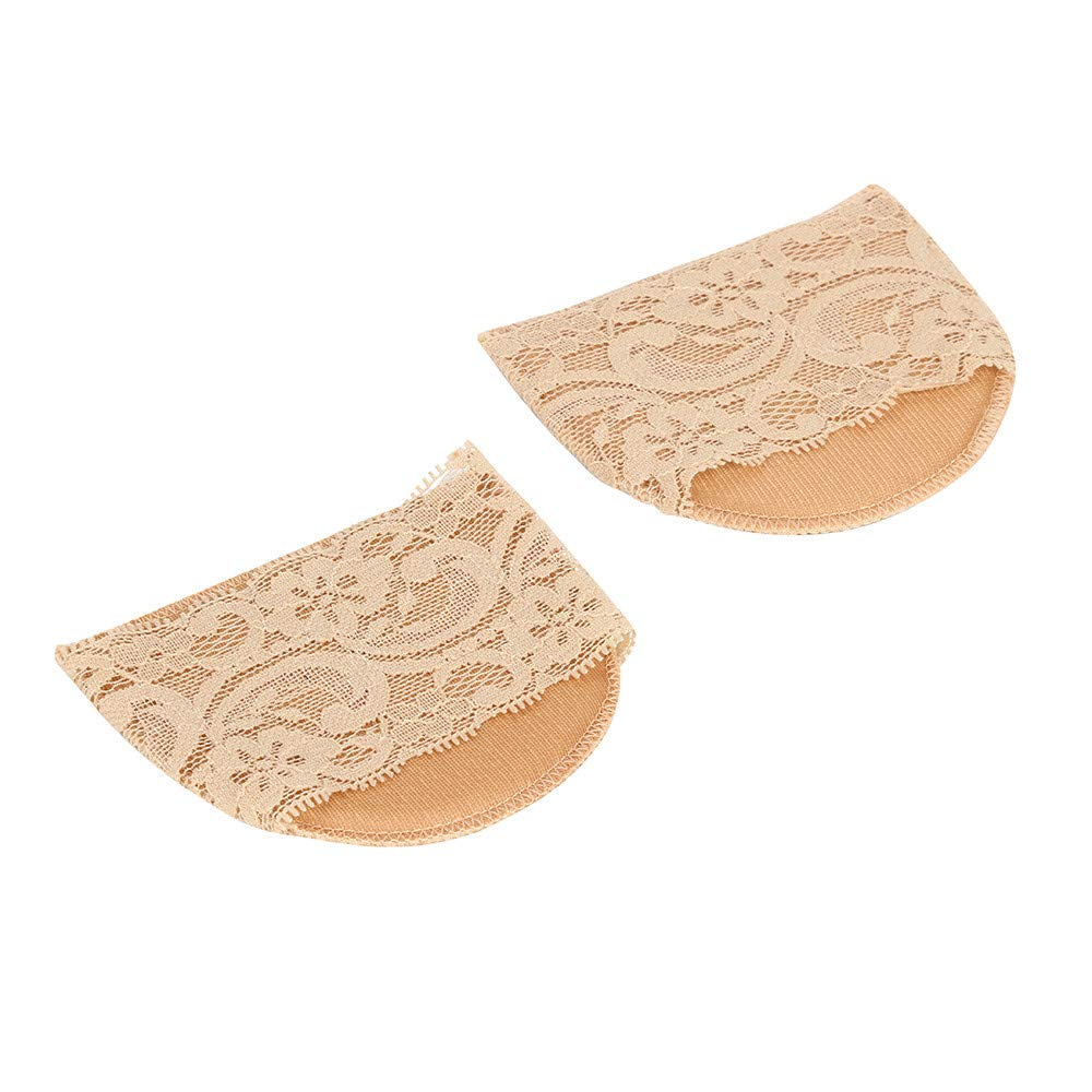 FILOL 1 Pair Forefoot Insoles Damping Soft Ladies Forefoot Invisible High Heeled Lace Shoes/Slip Resistant Half Yard Pads Hot Selling Gel Forefoot Insoles (Khaki)