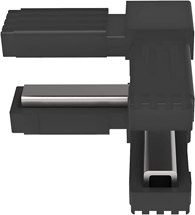 mm Sin ALMA de Acero Conectores para tubos cuadrados - 2 unidades // 25,00 x 25,00 en A