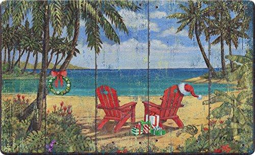 - Toland Home Garden Christmas Paradise 18 x 30 Inch Decorative Holiday Floor Mat Beach Adirondack Doormat
