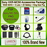 Advanced Accessories Kit for Sony Hxr-mc50u Hxrmc50u Mc-50u Advanced Accessories Kit for Sony Hxr-mc50u Hxrmc50u Mc-50u Mc50u Mc50 U Including 2x Extended Long Life Batteries + Ac/dc Rapid Home/car Charger + Wide Angle Lens + 2x Telephoto Lens + 3 Pcs Fil