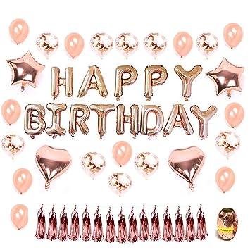 Hotchy Decoración Cumpleaños, Decoraciones de Feliz Cumpleaños con 16