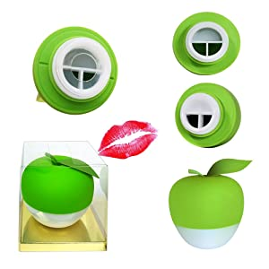 Lesnic Sexy Full Best Green Lip Plumper Device Enhancer(GEL Mouth Cover Included) Hot Sexy Mouth Beauty Lip Pump Enhancement New Style, Pump Device Quick Lip Plumper Enhancer (GREEN)