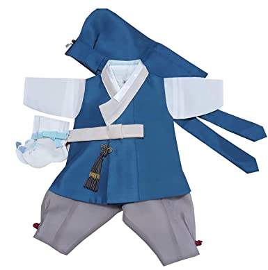 Amazon.com: 100 días de nacimiento Corea bebé niño Hanbok ...