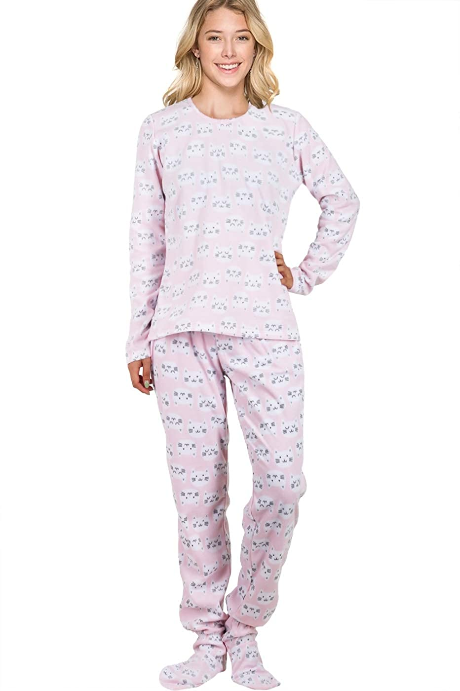 61901f52aa96 Two Piece Footed Pajamas Adult