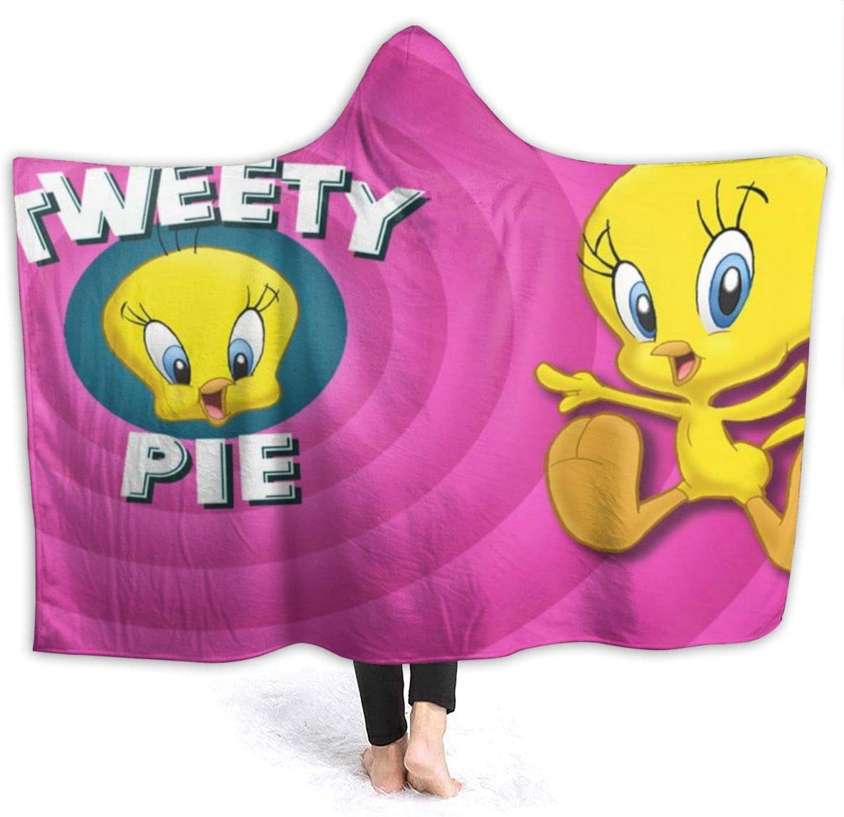 Tweety Bird Hooded Blanket