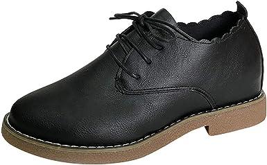 Femmes Ville Vintage Brogue Chaussures Cuir Talons à Lacets